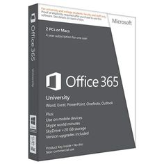 Microsoft Office 365 University 2 PCs/Macs Product Key - 4 Year Subscription (No Disc) $78 deals for back to school.