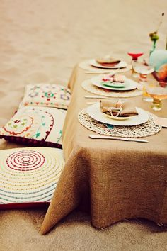 awesome beach set-up! (photo credit: Platinum Planning Couture Event Design)