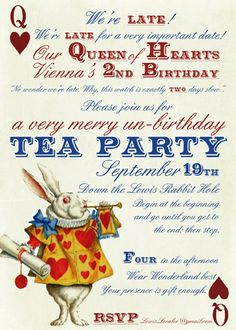 or alice in wonderland tea party