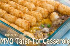 Need a delicious inexpensive dinner idea? Make your own Tater Tot Casserole