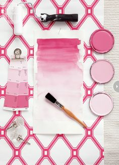 Pink and white colour palette