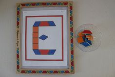 """I found this neat """"letter E"""" patterning sheet at Making Learning Fun and thought Sweet Girl would enjoy it since we have been working on patterning a lot lately.  I pulled out the correct patterning pieces to make it a little easier for her."""