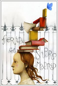 2011 Madrid Book Fair illustration by Ana Juan