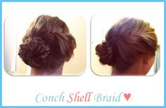 Conch Shell Braid<3 #Hair #Fishtail Conch Shell, Shell Braid3, Braid3 Hair