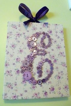 Lavender Buttons on Cotton Floral