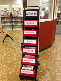 """Readbox"" library display - who needs redbox when the local library offers a free readbox?!"