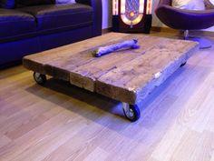 DIY: Mesita de centro industrial con maderas