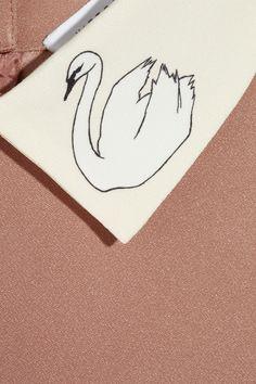 Swan collar crepe dress | Victoria, Victoria Beckham
