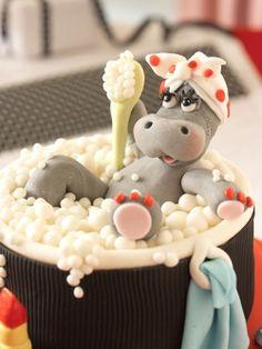 / porcelana fria polymer clay clay hippo, hippo bath, fria clay, clay creations, polym clay, polymer clay, bubble baths, bath time, bubbl bath