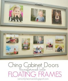 DIY China Cabinet Frames by I Am Only 1 Woman bookcases, china cabinets, cabinet frame, cabinet doors, picture frames, blog, blues, antiques, door frames