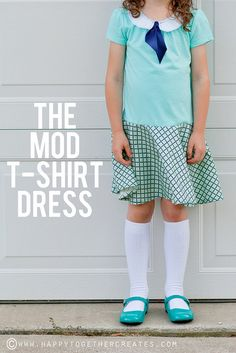 dress tutorials, mod tshirt, tshirt dress, cloth, circle skirts, dresses, girl dress, sewing vintage tutorials, t shirts