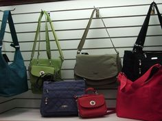 New arrivals of baggallini at Rose Style Shoppe! The green one is going to Scotland & Ireland with me!!!
