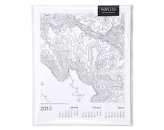 Pawling topographic calendar, $25