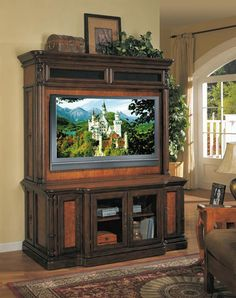 ideas for decorating on top of entertainment center on
