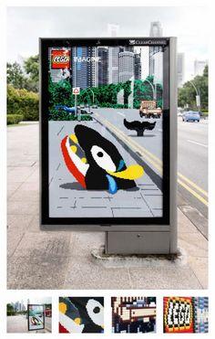 Lego: Whale 街の風景に合わせた広告 Canne 2011