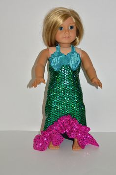 American Girl Doll Clothes - AG Doll Mermaid Costume
