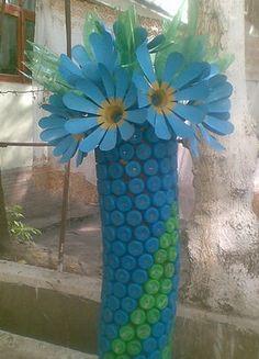 Plastic bottle cap crafts