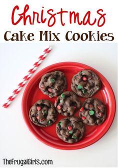 Christmas Cake Mix Cookies Recipe