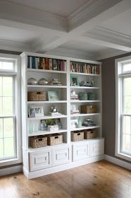 Style your bookcase with four simple steps to a great bookcase display via The Yellow Cape Cod