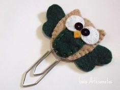 Felt owl bookmark