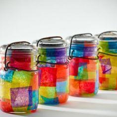 masons, idea, craft, candl, mason jars, mason jar projects, diy, kid, tea lights