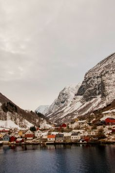 Reminds me of outport Newfoundland, beautiful! || Flåm fjord, Norway