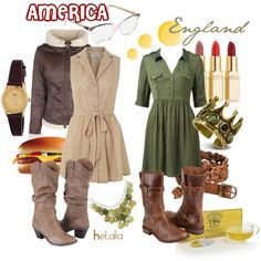 """America & England"" by chalupahoopla on Polyvore"