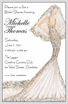Perfect for your next bridal shower.  This couture bridal shower invite is by VG Designs, the newest vendor at Ibox!