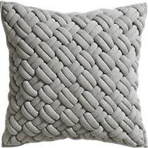 "jersey interknit 20"" pillow with down-alternative insert"