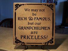 craft, picture quotes, famili, gift ideas, grandpar, priceless, grandchildren, grammi, grandma