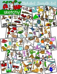 Alphabet Clipart BUNDLE SET - Graphic - Clip art from Sketchy Guy on TeachersNotebook.com -  (402 pages)  - Alphabet Clipart BUNDLE SET - Graphic - Clip art Alphabet Clip art Letters BUNDLE SET LETTERS A-Z Included is a set of 402 individual files.
