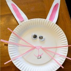 Easter Bunny Paper Plate Crafts For Preschoolers & Toddlers