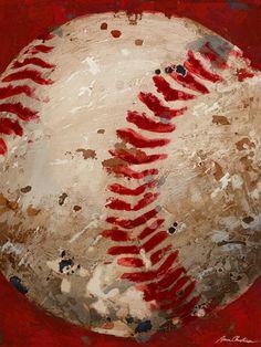 Vintage baseball art