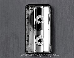Clear Cassette Tape design iPhone Case, iphone cover for iPhone 4, iPhone 4s, iPhone 5, iPhone 5C, iPhone 5S, iPod touch 4, ipod touch 5