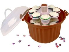 Giant Cupcake Carrier: Brown by Fox Run Craftsmen