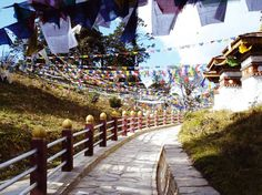 Prayer Flags... in Bhutan... nestled in the Eastern Himalayas