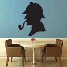 Sherlock Silhouette  Wall Vinyl by WallsOfText on Etsy, $19.95