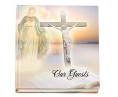 Catholic Memorial Service Registry Sign-In Guest Book