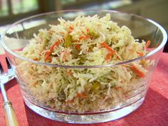 Fourth of July Coleslaw from FoodNetwork.com - another Trisha Yearwood's recipes!  Love coleslaw but this one calls for sweet bread and butter pickles!