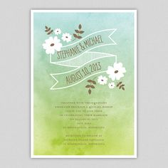 Ornamented Ombre Printable Invitation in Aqua / by splendidparty, $10.00