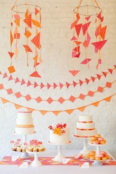 orange and pink birthday