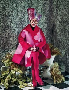 Iris Apfel for Dazed & Confused Magazine november issue. Shot by Jeff Bark