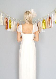 Odessa Sweetheart boho hippie wedding dress with cap by dahlnyc, $548.00