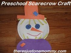 #preschooler #scarecrow craft via There's Just One Mommy