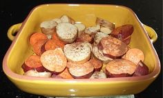 Sweet potatoes roasted with coconut oil