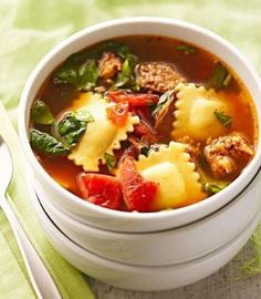 Recipe for Italian Dinner Soup - 2012 Best of the Midwest Recipe Contest for this simple, crowd-pleasing soup. It's ready in 30 minutes and tastes like you've been cooking for hours.
