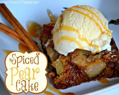 Spiced Pear Cake | MomOnTimeout.com