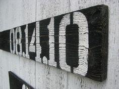 wood sign, reclaim barnwood, reclaimed barn wood, pallet, house numbers