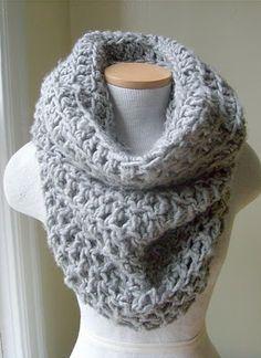 crocheted cowl