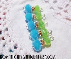 Multi Color Beaded Charm Set Cottage Chic by RomanticallyVintage, $4.50
